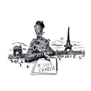 """Cartoon für """"Die Zeit"""" vom 15.1. 2015 zum Thema """"Je suis Charlie"""" und den Demonstrationen in Paris. © Niels Schröder"""