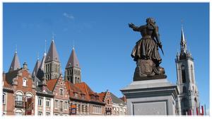Tournai, vue de la place.