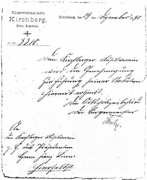 'Genehmigung der Statuten' des MVK