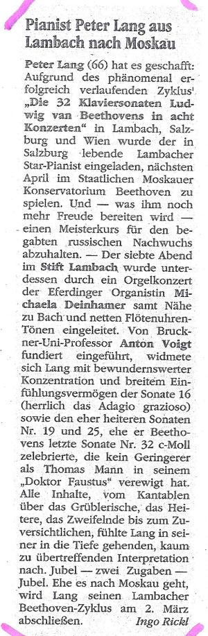 Kulturseite Neues Volksblatt, 5. Nov. 2012