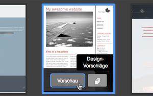 Bild: Jimdo Design Vorschläge