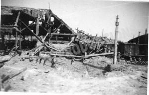 La gare de Noisy-le-sec après ses bombardements