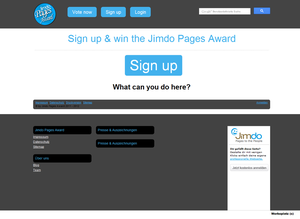 Jimdo Pages Award