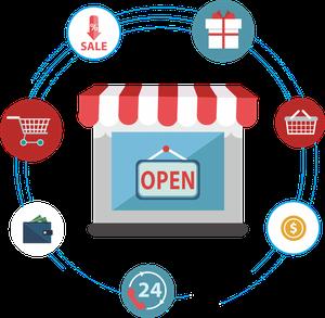 immagine sito web e-commerce aperto sempre