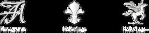 Design-Varianten zur Gestaltung für Monogramme oder Motive