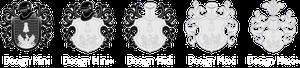 Alle Design-Varianten zur Gestaltung des Wappen nach heraldischen Grundsätzen