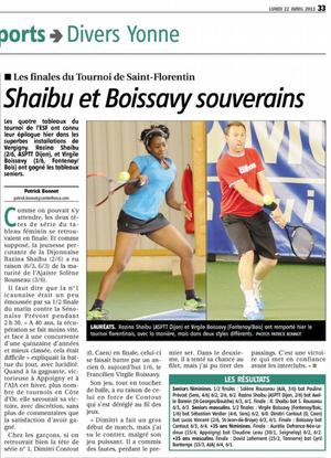 Yonne Républicaine 22/04/2013