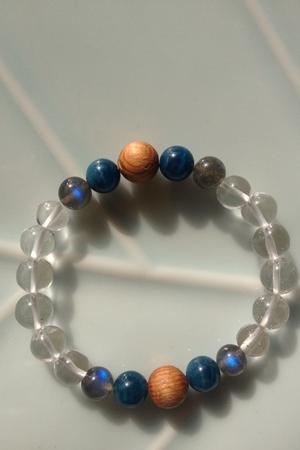 開運天然石ブレス【Blue】