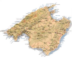 Inselkarte von Mallorca