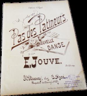 Па-де-патинер, Э. Жув в издании К. Розе, Санкт-Петербург, обложка, старинные ноты