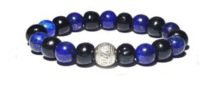 Bracelet noir et bleu
