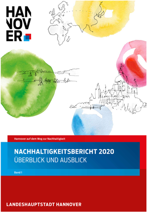 Titel Nachhaltigkeitsbericht der Landeshauptstadt Hannover - Mitarbeit von fundwort im Redaktionsteam - Konzept und Text fundwort