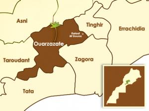 Cartes des provinces du sud-est marocain