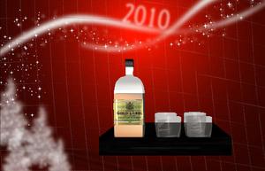 plateau whisky et verres