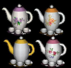 cafetière et tasses