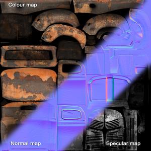texrure for Old Car, текстура старого автомобиля