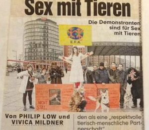 Demo PERVERS -  SEX mit Tieren