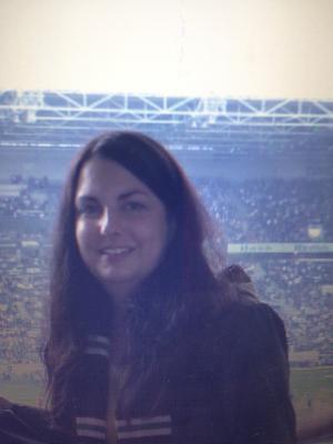 """04/2012 mit """"Kürbiskopf"""" im Fußball-Stadion 🙌🏼"""