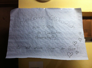 Unser Plakat für Heidi und Spirit :-)