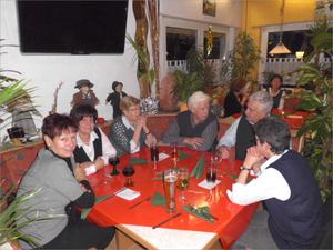 v. l. Birgit, Rosemarie, Renate, Heiner, Egon und Ute