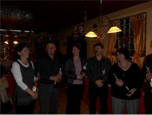 20 Jahre beim SKC v. l. Jutta und Heinz Hollstein sowie Martina und Frank Breyvogel. Doris ist erst 10 Jahre beim SKC, aber auch sie wird die 20 schaffen