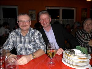 Unser diesjähriger 1000 Knacker Edwin und sein Mannschaftskamerad Andreas