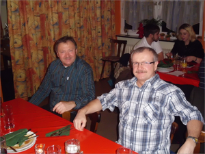 Zwei Gründungsmitglieder ; Unser 1. Vorsitzender Thomas Kraus und Edwin Zakostelny