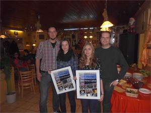 Nochmals Sandra und Nina mit ihrem Coach Sebastian Klonner rechts und unserem 2. Vorsitzenden Jonas Hudel