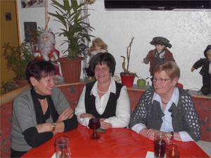 v. l. Birgit, Rosemarie und Renate
