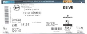 Nr.04 - 01.06.2008 - Herbert Grönemeyer - Alm, Bielefeld