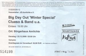 Nr.11 - 23.12.2008 - Big Day Out (Karpatenhund, Luxuslärm, Clueso) - Bürgerhaus, Anröchte