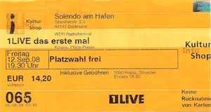 Nr.08 - 12.09.2008 - 1Live Das erste Mal (Silvester, 1000Robots, Kilians, Philipp Poisel) - Solendo, Dortmund