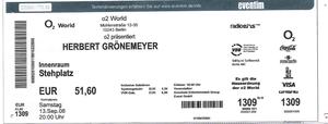 Nr.09 - 13.09.2008 - Herbert Grönemeyer - o2 Arena, Berlin