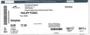 Nr.12 - 04.02.2009 - Philipp Poisel - Ringlokschuppen, Bielefeld