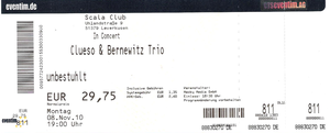 Nr.36 - 21.05.2011 - Clueso & Bernewitz Trio - Scala, Leverkusen(