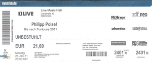 Nr.33 - 24.01.2011 - Philipp Poisel - Live Music Hall, Köln