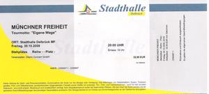Nr.21 - 30.10.2009 - Münchener Freiheit - Stadthalle, Delbrück