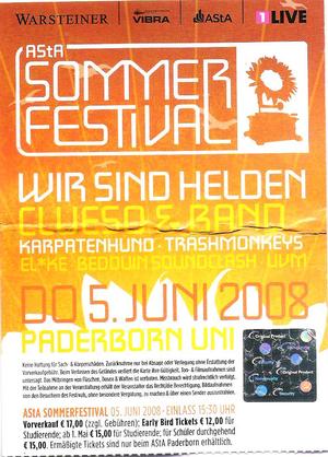 Nr.05 - 05.06.2008 - Asta-Sommerfestival (Wir sind Helden, Clueso) - Universität, Paderborn