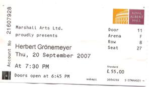 Nr.03 - 20.09.2007 - Herbert Grönemeyer - Royal Albert Hall, London (UK)