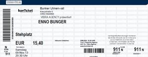 Nr.108 - 09.11.2013 - Enno Bunger - Bunker, Bielefeld