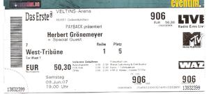 Nr. 01 - 09.06.2007 - Herbert Grönemeyer - Arena Auf Schalke, Gelsenkirchen