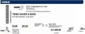 Nr.73 - 19.03.2013 - Tiemo Hauer - Freizeitzentrum West, Dortmund