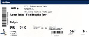 Nr.109 - 10.11.2013 - Jupiter Jones - Freizeitzentrum West, Dortmund