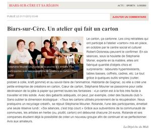 Ateliers Séniors - Biars - Octobre 2012