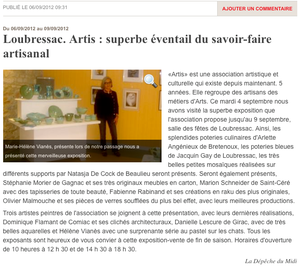 Expo Artis - Loubressac - Septembre 2012