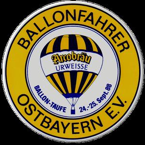 Hier sehen Sie das Wappen der Ballonfahrer Ostbayern mit der ersten Ballontaufe am 24. - 25 September 1988