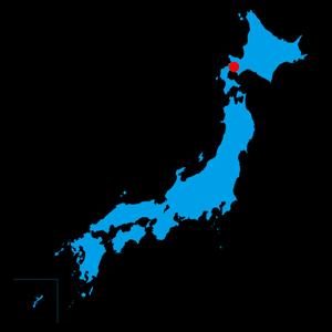 The location of the Daisetsuzan Backcountry Ski Week in Hokkaido