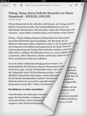 Instapaper: Webseite im E-Book-Format