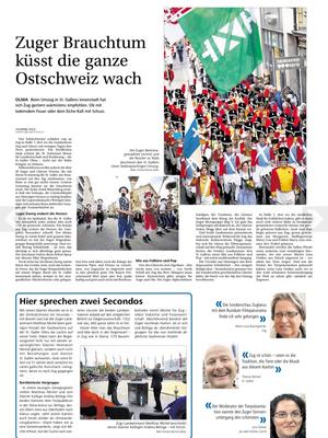 """Auszug aus der """"Zentralschweiz am Sonntag"""" vom 14.10.2012"""