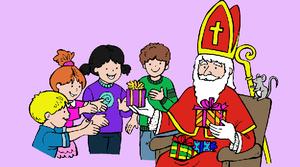 een cadeau voor Sinterklaas